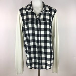 Michael Stars Size 8 Plaid Top